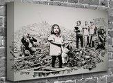 "canvas101 Banksy - Photo Journalism Street Graffiti Stencil Art Canvas Art Canvas Print Picture print Size: (40"" x 26"")"