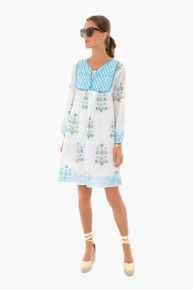SZ Blockprints Cornflower Blue Lily Jaipur Dress