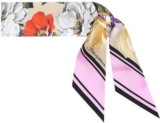 Dolce & Gabbana Floral silk-faille scarf