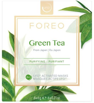 Foreo UFO Activated 6-Pack Green Tea Sheet Mask Set