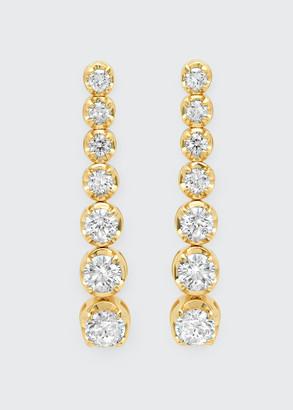 Jennifer Meyer 18k Gold 7-Diamond Tennis Stud Earrings