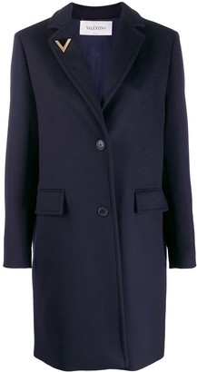 Valentino V pin single-breasted coat