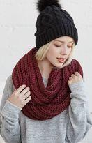 La Hearts Chunky Knit Infinity Scarf