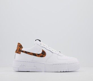 Nike Force 1 Pixel Trainers White Leopard