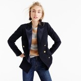 J.Crew Double-breasted blazer in Italian wool with satin lapel