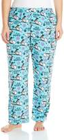 Disney Women's Ladies Plush Pants Frozen Plus