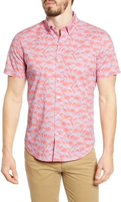 Bonobos Riviera Slim Fit Shark Print Button-Down Shirt