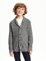Old Navy Shawl-Collar Sweater-Knit Cardigan for Boys