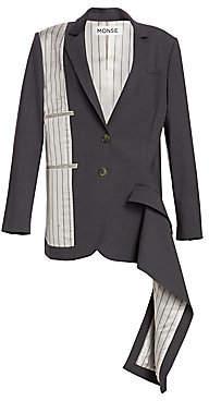Monse Women's Inside-Out Stretch Virgin Wool Pinstripe Blazer - Size 0