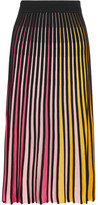 Kenzo Ribbed Cotton-blend Midi Skirt - Pink