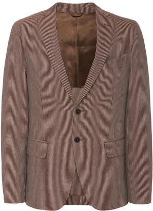 eidos Seersucker Two-Button Jacket