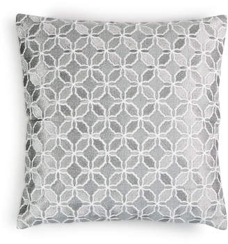 "Charter Club Damask Designs Embroidered Metal Geo 16"" x 16"" Decorative Pillow, Bedding"