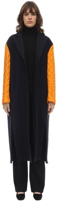 Nina Ricci Long Virgin Wool Felted Gabardine Coat