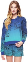 Juicy Couture Amazon Floral Embroidered Ombre Pullover