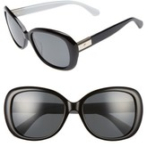 Kate Spade Women's Judyann 50Mm Sunglasses - Black/ Ivory