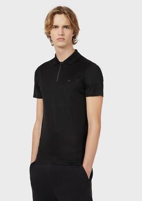 Emporio Armani Travel Essentials Tencel Blend Polo Shirt