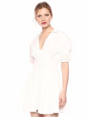 C/Meo Women's Feels Like Summer Puff Sleeve Pleated Flare Short Dress