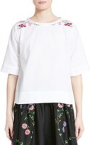 Comme des Garcons Women's Embroidered Broadcloth Top
