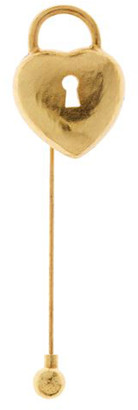 Oscar de la Renta Heart Padlock Stick Pin Brooch
