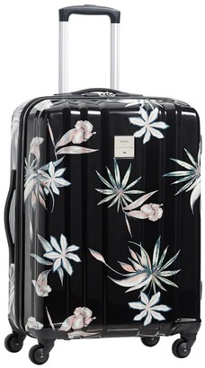 Pottery Barn Teen Roxy Channeled Hard-Sided Island Life Checked Spinner Suitcase