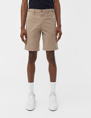 Norse Projects Men's Aros Light Twill Short in Utility Khaki, Size 28 | 100% Cotton