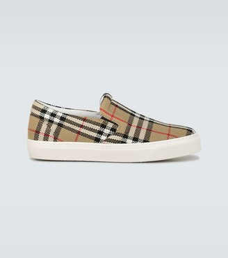 Burberry Thompson checked slip-on sneakers