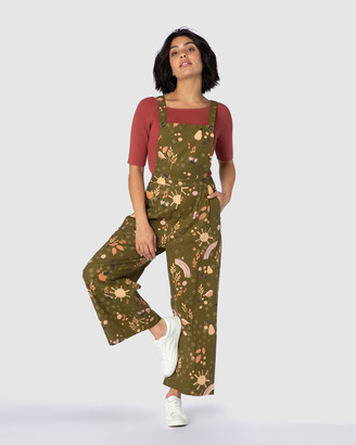 Princess Highway - Women's Green Jumpsuits - Autumn Picnic Overalls - Size One Size, 8 at The Iconic