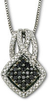 Black Diamond FINE JEWELRY Sterling Silver Color-Enhanced Pendant Necklace