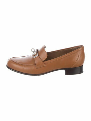 Hermes Leather Loafers Brown