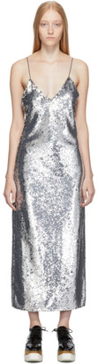 Stella McCartney Silver Sequins Midi Dress