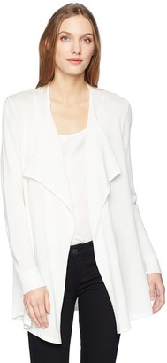 Calvin Klein Women's Drape Front MESH Cardigan