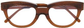 Kuboraum Round-Frame Clear-Lens Glasses