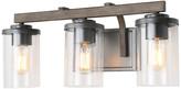 Lnc LNC 3-Light Vanity Bathroom Rustic Wood Faux Wall Sconce