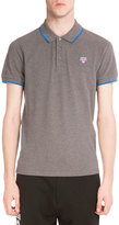 Kenzo Iconic Tiger Contrast-Tip Polo Shirt, Gray