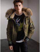 Burberry Raccoon Fur and Shearling Hood Duck-down Jacket