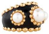 Chanel 18K Pearl Enamel Ring