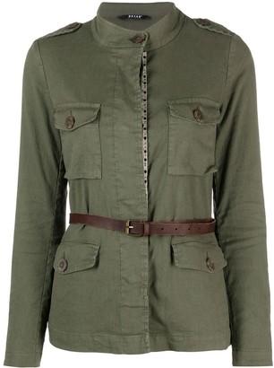 Bazar Deluxe Belted Linen-Blend Jacket