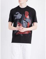 Versace Abstract-print Cotton-jersey T-shirt