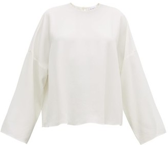 Raey Dropped-shoulder Crepe Top - Ivory