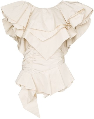 Alexandre Vauthier layered-ruffle structured mini-dress