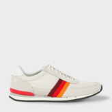 Paul Smith Men's Taupe Suede And Mesh 'Swanson' Trainers