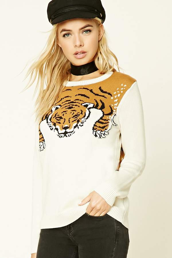 Forever 21 Tiger Graphic Sweater