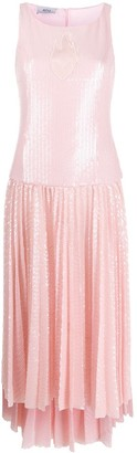 Atu Body Couture Sequinned Pleated Dress