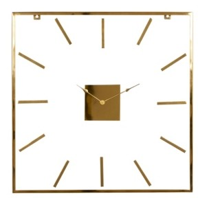 Venus Williams Extra Large Square Metal Wall Clock with Clear Glass Face