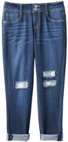 Mudd Girls 7-16 & Plus Size Crochet Patch Jean Capris