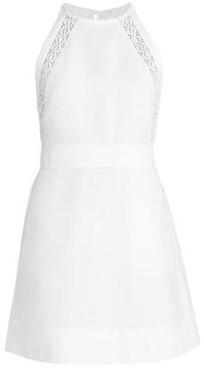 Chloé Linen & Cotton Halter Dress