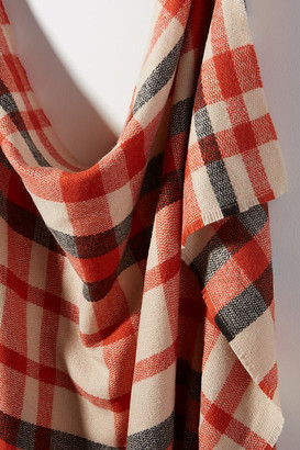 Anthropologie Sawyer Plaid Scarf By in Orange
