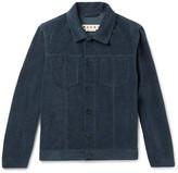Marni Slim-Fit Washed Cotton and Linen-Blend Velvet Jacket