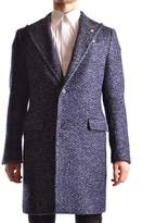 Manuel Ritz Men's Blue Wool Coat.