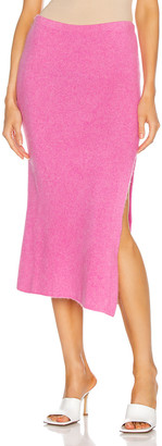The Elder Statesman Heavy Slit Skirt in Neon Pink | FWRD